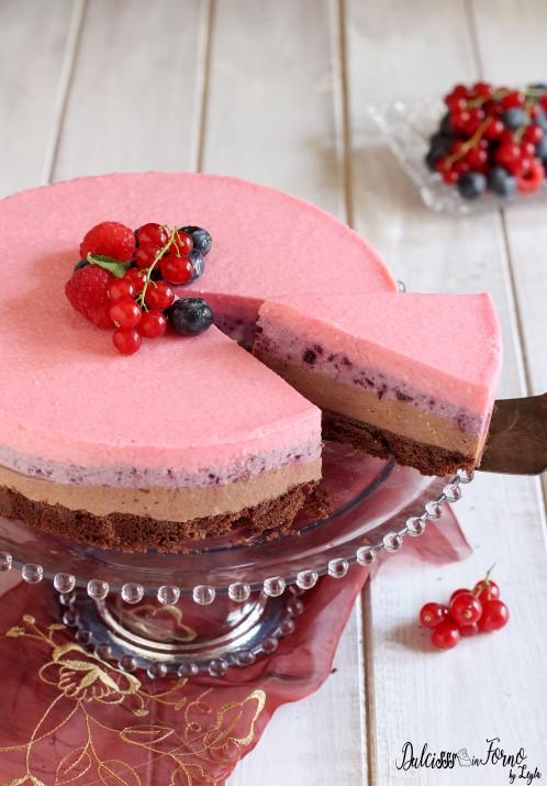 Come fare una Cheesecake veloce a strati con nutella e marmellata, senza cottura ricetta Dulcisss in forno by Leyla