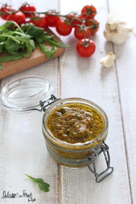 Pesto di rucola e pomodorini leggero ricetta Dulcisss in forno by Leyla