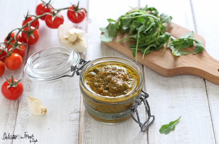 Pesto di Rucola e Pomodorini Leggero e Pesto di Rucola Classico