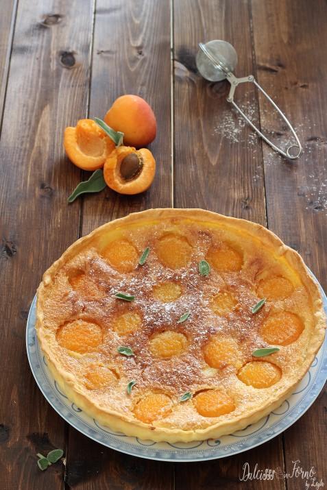 Torta francese veloce con crema di mandorle e albicocche dolce francese veloce ricetta Dulcisss in forno by Leyla