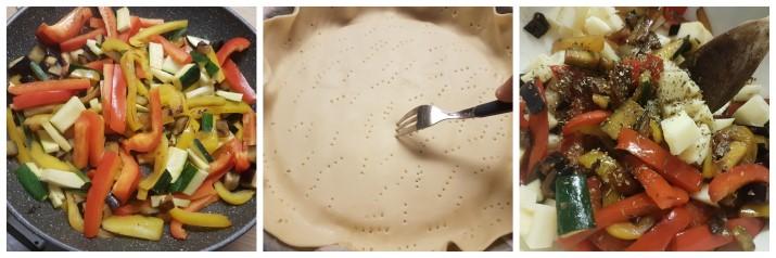 Torta salata con melanzane e scamorza, peperoni e zucchine facile senza uova ricetta Dulcisss in forno by Leyla