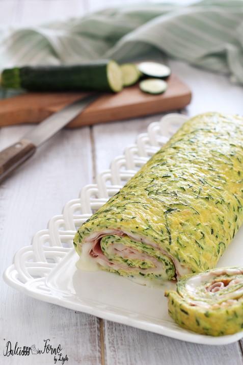 Rotolo di Frittata alle Zucchine al Forno con Stracchino e Prosciutto