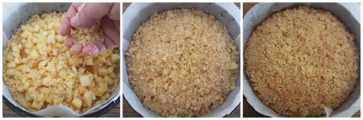 Sbriciolata veloce alle mele e marmellata – ricetta Crumble di mele Dulcisss in forno by Leyla
