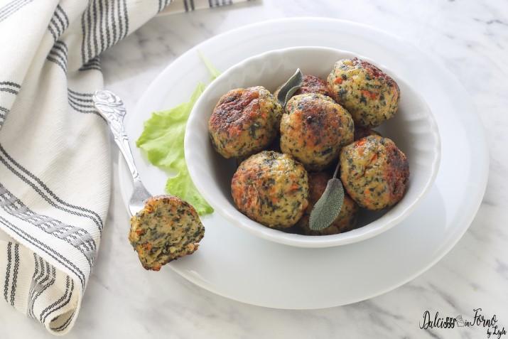 Polpette di pollo e spinaci carote al forno senza uova facili e veloci ricetta Dulcisss in forno by Leyla