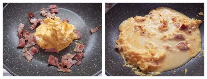 Pasta alla crema di zucca e speck, primo piatto facile e cremoso con zucca ricetta Dulcisss in forno by Leyla