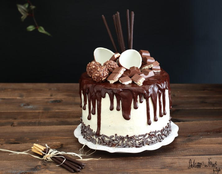 how to make a ganache drip cake