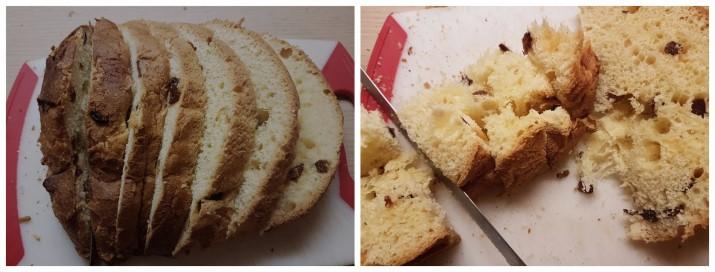 Torta di panettone e crema a forma di tronchetto di Natale ricetta Dulcisss in forno by Leyla