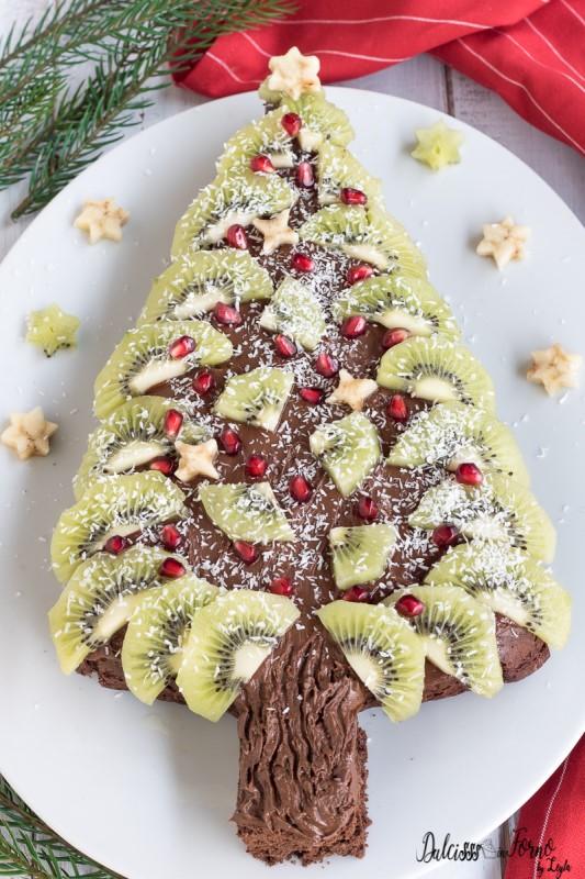 Albero di Natale con Nutella, dolce a forma di albero di Natale
