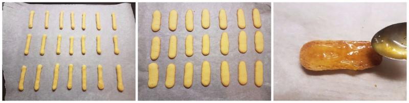 Lingue di gatto ricetta tirolese con farina di mandorle, marmellata e cioccolato ricetta Dulcisss in forno by Leyla