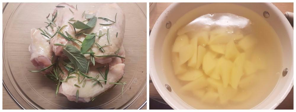 Sovracosce di pollo al forno con patate, arrostito fuori e morbido dentro ricetta Dulcisss in forno by Leyla