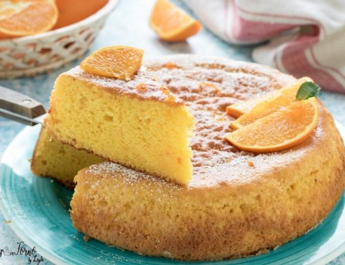 Pan d'arancia: torta con arance intere frullate