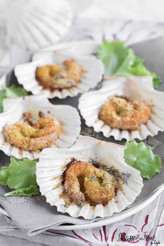 Gamberi al curry ricetta facile e veloce - Gamberi al curry gratinati al forno ricetta Dulcisss in forno by Leyla