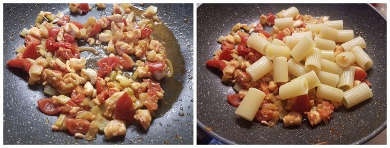 Pasta con orata e pomodorini: primi piatti con sugo di pesce ricetta Dulcisss in forno by Leyla