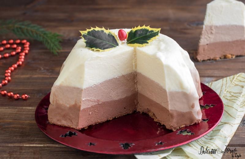 Torta Mousse ricetta al triplo cioccolato - torta di Natale al cioccolato