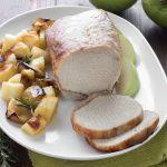 Arrosto di maiale alle mele e patate al forno