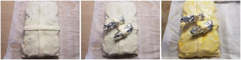 Torta salata lenticchie e cotechino, rustico con pasta sfoglia a forma di pacchetto regalo Dulcisss in forno by Leyla