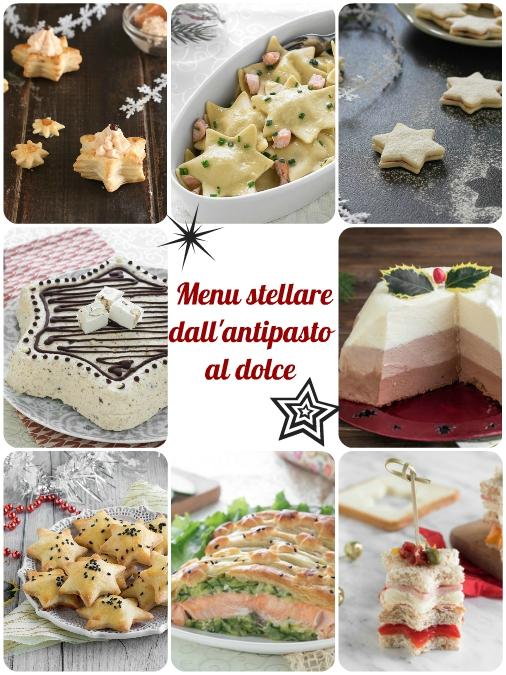 Menu di Capodanno stellare, dall'antipasto al dolce a forma di stella ricette Dulcisss in forno by Leyla