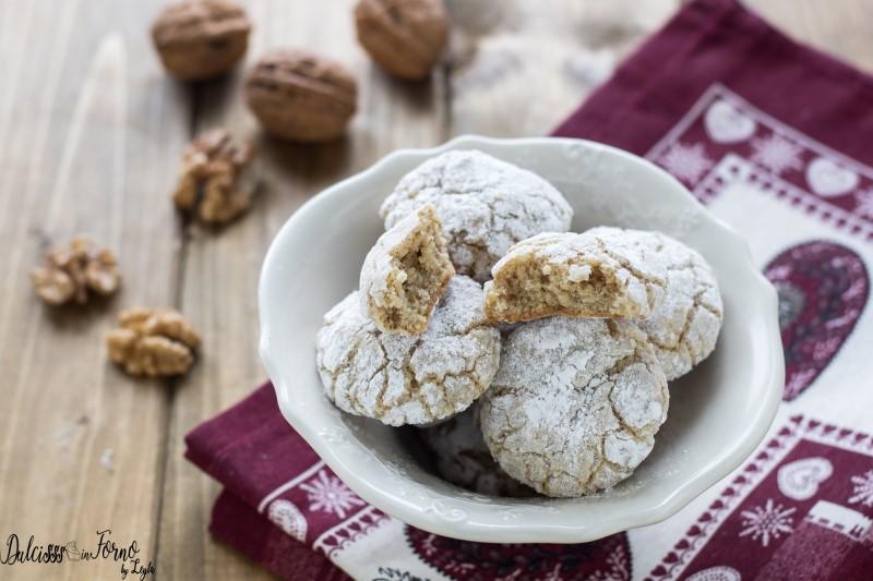 Biscotti morbidi alle noci senza burro - dolci con noci velocissimi, pronti in 5 minuti ricetta Dulcisss in forno by Leyla