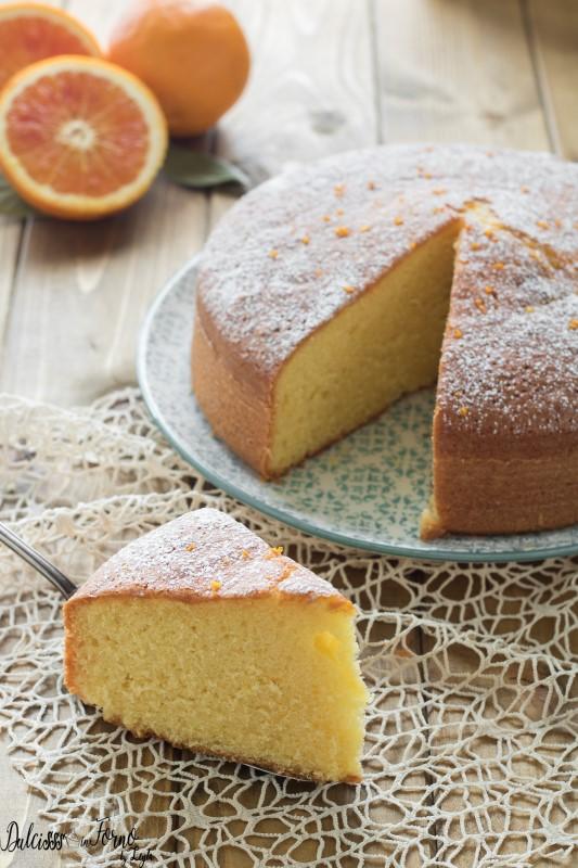 Torta soffice all'arancia senza burro semplice e morbidissima ricetta Dulcisss in forno by Leyla