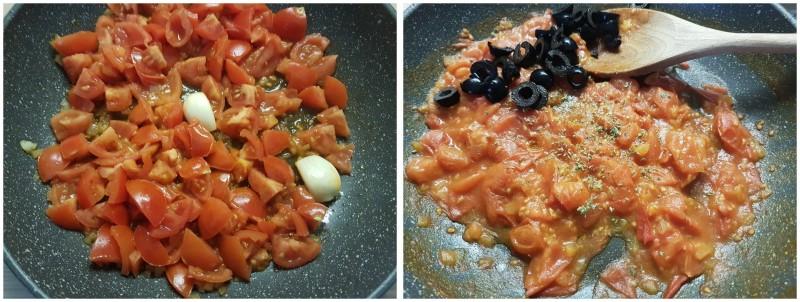 Spaghetti pomodorini e olive, sugo con pomodorini freschi, facile e veloce ricetta Dulcisss in forno by Leyla