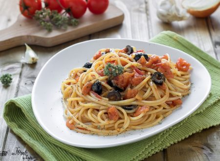 Spaghetti pomodorini e olive, facile e veloce