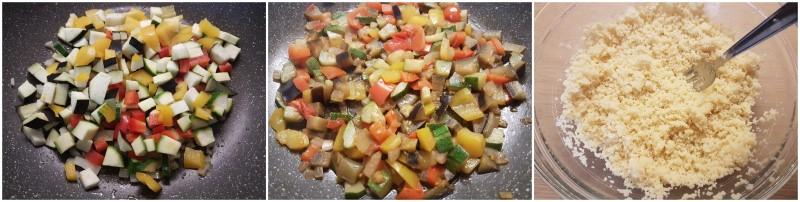 Preparazione delle verdure - Cous cous vegetariano