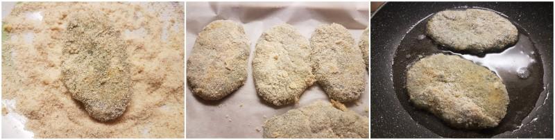 Hamburger di pollo e spinaci o Cotolette di spinaci fatte in casa fritte o al forno ricetta Dulcisss in forno by Leyla