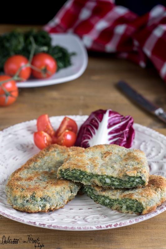 Spinacine fatte in casa - Hamburger di pollo e spinaci - Cotolette di spinaci fritte o al forno ricetta Dulcisss in forno by Leyla