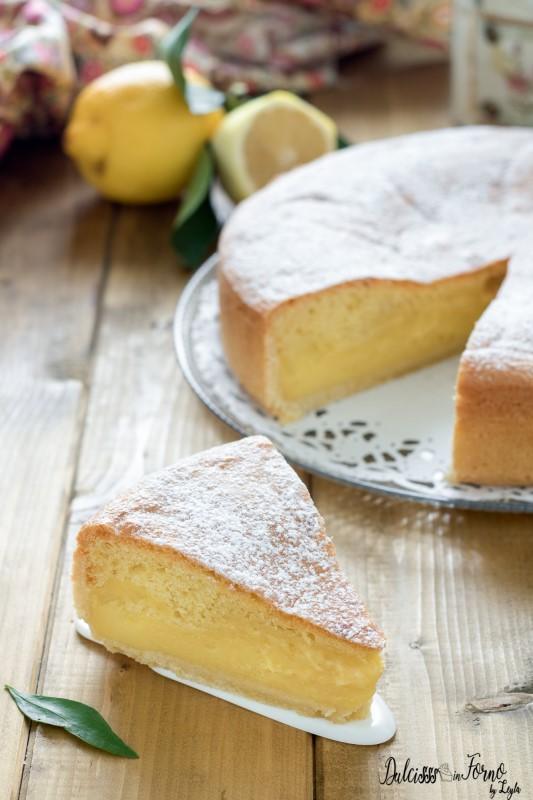 Torta al limone con crema al limone morbida e soffice ricetta Dulcisss in forno by Leyla