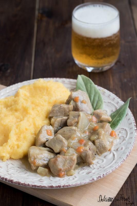 Spezzatino alla birra tenero e succoso con carne di vitello o manzo ricetta Dulcisss in forno by Leyla