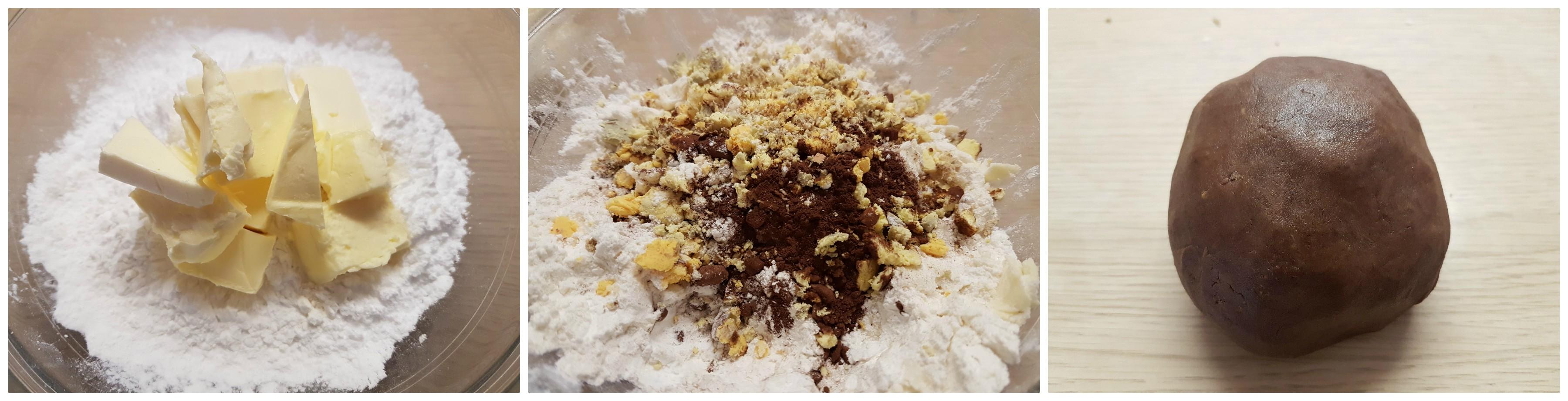 Biscotti canestrelli al cioccolato golosi e friabili con frolla ovis mollis al cacao ricetta Dulcisss in forno by Leyla