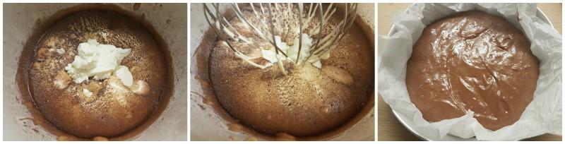 Torta cioccolato e fragole semplice, morbida, senza panna e senza burro