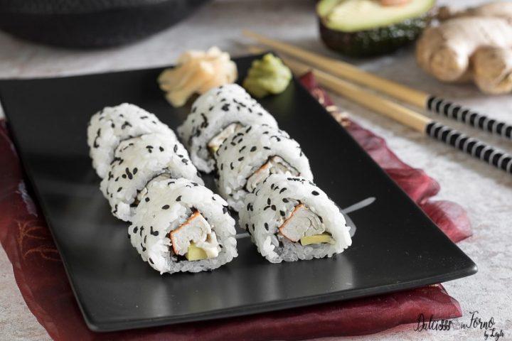 Uramaki California, ricetta perfetta dei California Maki o California roll sushi