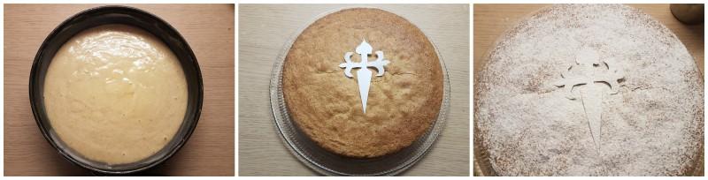 Torta di Santiago ricetta originale dolce con farina di mandorle, senza glutine, senza farina, senza olio e senza burro