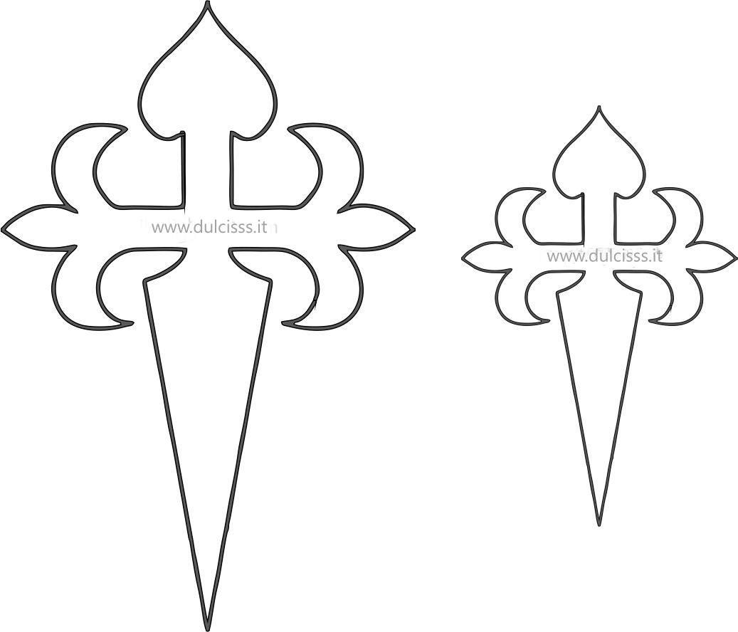 Croce di Santiago - Cruz de Santiago, stencil per torta di santiano