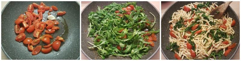 Pasta rucola e pomodorini ciliegino, ricetta primo piatto estivo