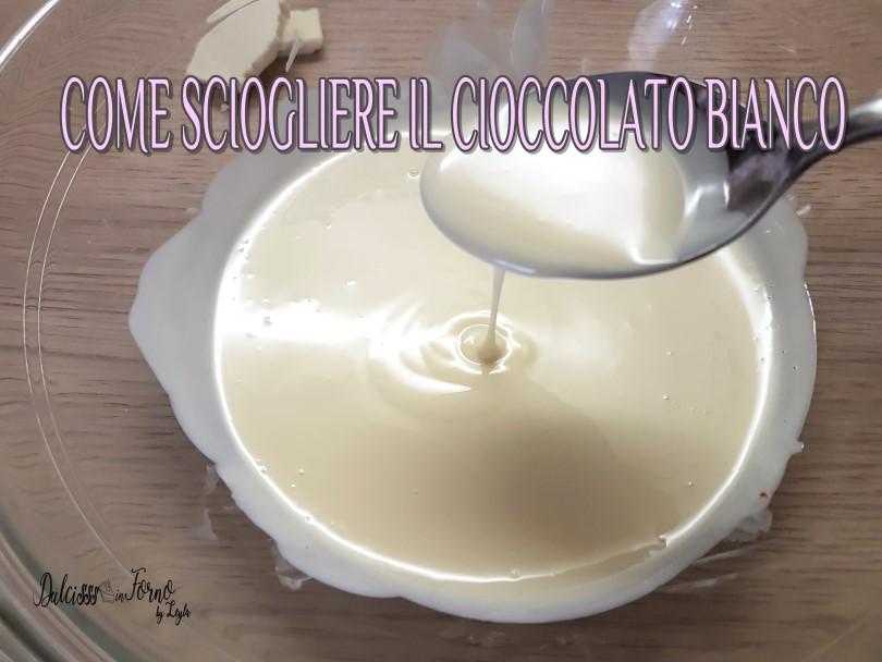 come sciogliere il cioccolato bianco a bagnomaria o nel