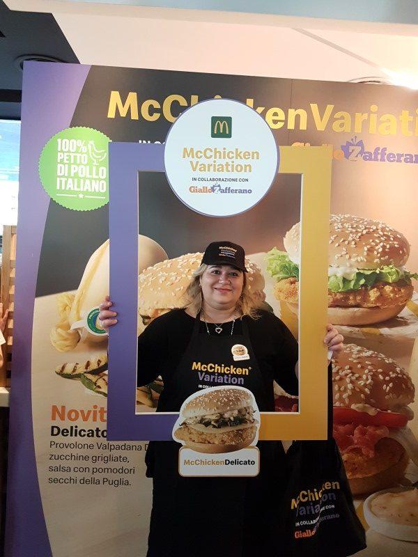 Leyla Farella all'evento McDonald's e GialloZafferano