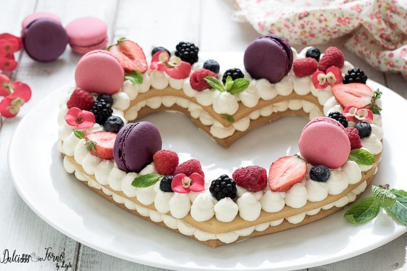 Cream tart a cuore, ricetta facile con tutorial passo passo con crema al mascarpone e frutta