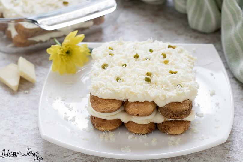 Tiramisù al cioccolato bianco tiramisu bianco enza mascarpone e senza uova
