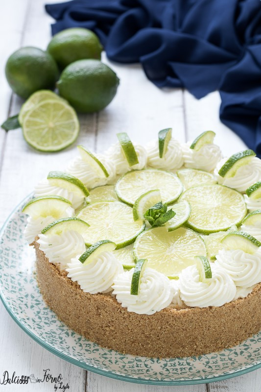 Key lime cheesecake ricetta senza cottura e senza uova – Cheesecake al lime semplice