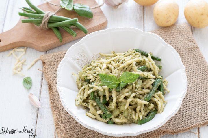 Pasta e fagiolini – Pasta con pesto alla genovese – Trofie pesto patate e fagiolini