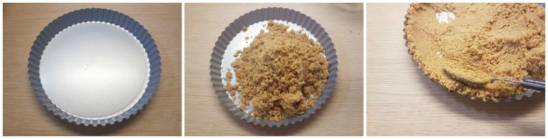 Crostata senza cottura: la base di biscotti