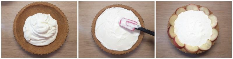 Versare la crema sulla base - Crostata estiva ricetta
