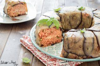 Timballo di riso al forno con melanzane alla siciliana
