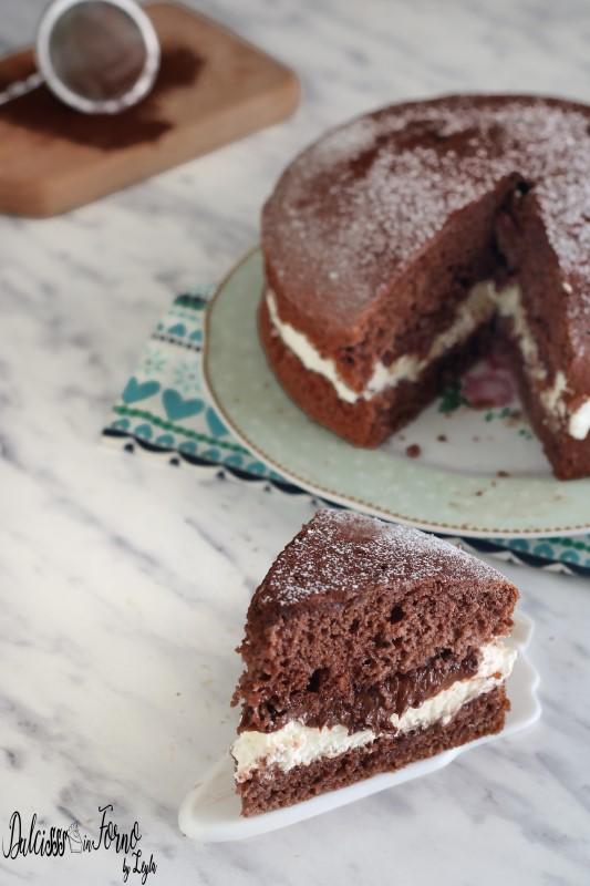 Torta al cioccolato panna e nutella dolce semplice e veloce con panna e nutella