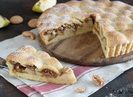 Crostata di mele e amaretti: la Torta Amamela