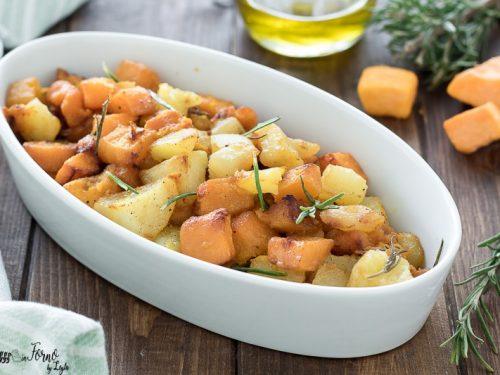 Zucca e patate al forno ricetta semplice