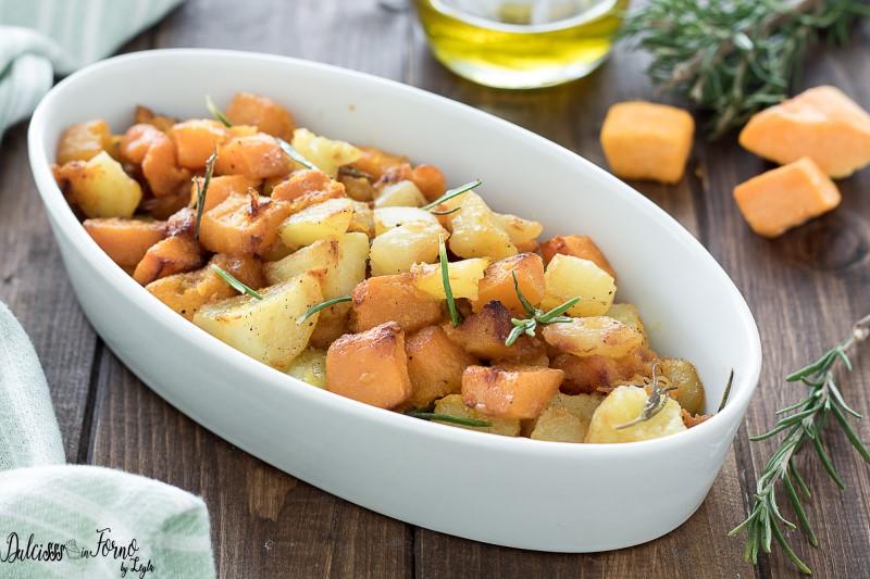 Zucca e patate al forno ricetta contorno semplice