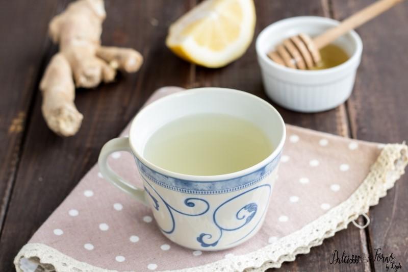 Tisana zenzero limone e miele, rimedio mal di gola, tosse, raffreddore e influenza